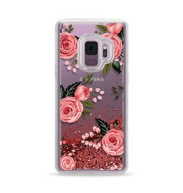 Casetify Casetify | Samsung Galaxy S9 Glitter Case Pink Floral Roses (Pink) | 120-0936