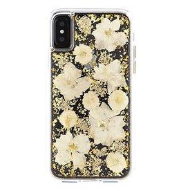 Case-Mate iPhone X Antique White Karat Petals case