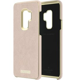 Kate Spade New York (KSNY) KSNY Wrap Case Samsung Galaxy S9 + Plus Saffiano Rose Gold/Logo Plate - KSSA-046-SRG