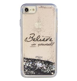 "Caseco Caseco| iPhone 8/7/6/6s Liquid Glitter Case ""Believe in Yourself"" 