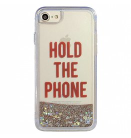 "Caseco Caseco| iPhone 8/7/6/6s Liquid Glitter Case ""HOLD THE PHONE"" 