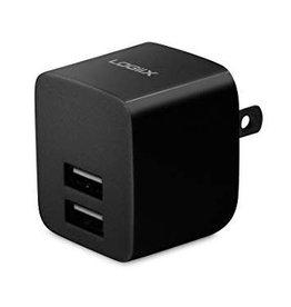 Logiix Logiix   USB Power Cube Blk 2.4A   LGX-11742