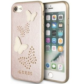Guess Guess | IPhone 8/7/6/6s Pink Glitter Butterfly PU Leather Phone Case (Spring Collection) | GUHCI8PBURG