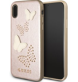 Guess Guess | IPhone X Pink Glitter Butterfly PU Leather Phone (Spring Collection) | GUHCPXPBURG