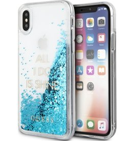 Guess Guess | IPhone X Glitter Blue Hard Phone Case (Glitter Collection) | GUHCPXGLUQBL