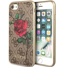 Guess Guess | IPhone 8/7/6/6s Red Rose Brown Pattern Hard Phone Case (Spring Collection) | GUHCI84GROB