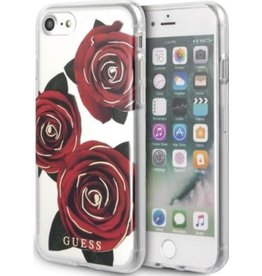 Guess Guess | IPhone 8/7/6/6s Transparent Red Rose Hard Phone Case (Spring Collection) | GUHCI8ROSTR