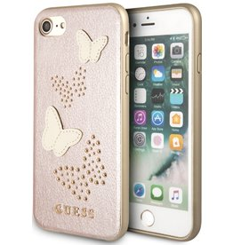 Guess Guess | IPhone 8/76/6s+ Pink Glitter Butterfly PU Leather Phone Case (Spring Collection) | GUHCP7BURG