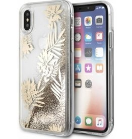 Guess Guess | IPhone X Palm Spring Glitter Gold Hard Phone Case (Glitter Collection) | GUHCPXGLUPRG