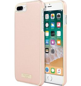 KSNY (Kate Spade New York) Kate Spade New York | Wrap Case iPhone 8/7/6/6s+ Saffiano RoseGold/Gold Logo | KSIPH-049-SRG-FR
