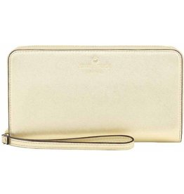 KSNY (Kate Spade New York) Kate Spade New York | Zip Wristlet Universal Saffiano Gold | KSIPH-018-SGLD
