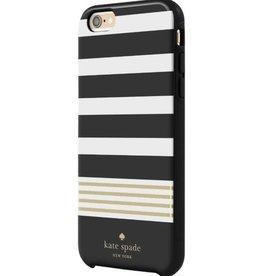 KSNY (Kate Spade New York) /// Kate Spade New York | iPhone 6/6s+ Stripe 2 Black/White | KSIPH-012-STRBWGF