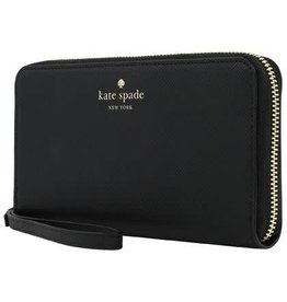 KSNY (Kate Spade New York) Kate Spade New York | Zip Wristlet Universal Saffiano Black - SIPH-018-SBLK