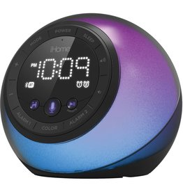 iHome iHome   Bluetooth Color Speaker USB Charge Voice Control Black   115-1725