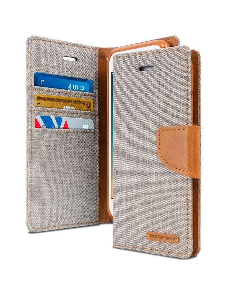 Goospery Étuis Canvas Diary pour iPhone 7 / 8 - Porte Carte