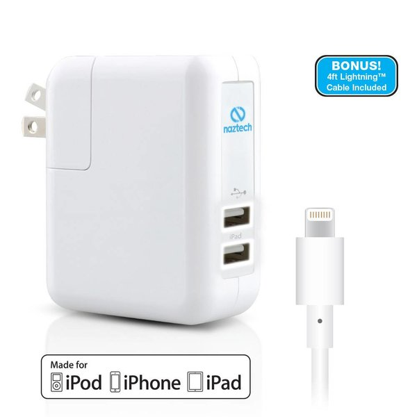 Chargeur USB Double 4.8A Lightning Blanc