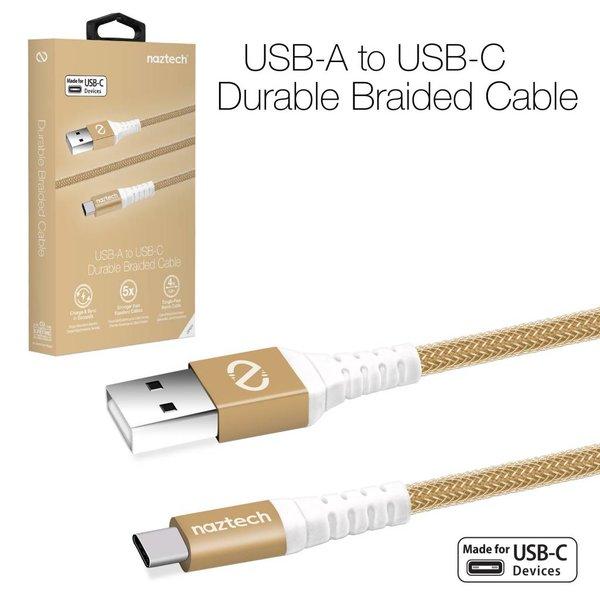 Câble USB à USB-C Tressé 4 pieds