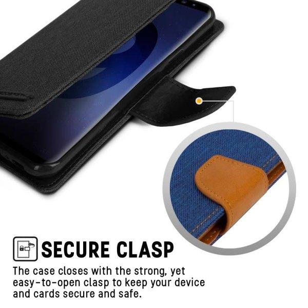 Étuis Canvas Diary pour Samsung Galaxy S9 - Porte Carte