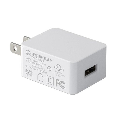 Hypergear HyperGear Wall Charger 1A White