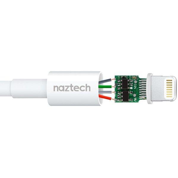 NAZTECH - Câble Robuste MFI iPhone Lightning Tressé 4 pieds - Garantie à vie - Canada