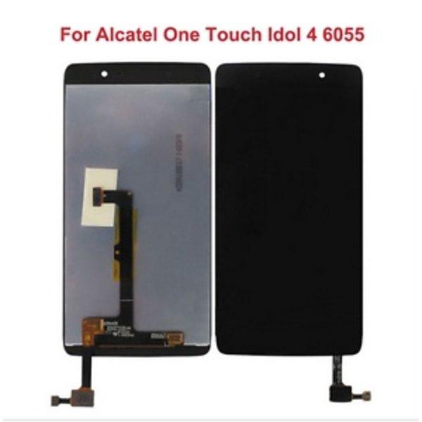 Vitre et LCD de remplacement pour Alcatel iDol 4 (6055a) - Livraison rapide partout au Canada!
