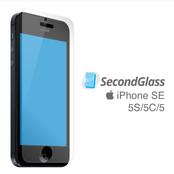Protecteur d'écran en verre trempé Second Glass pour cellulaire iPhone