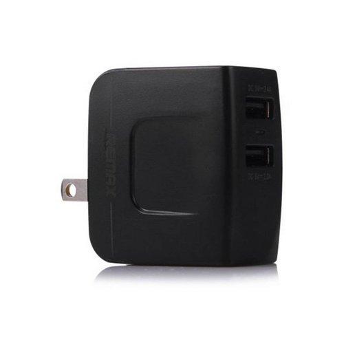 Chargeur mural Remax double USB 3.4A - Noir