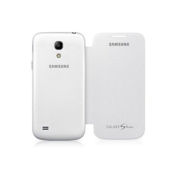 Étui Samsung S4 Mini Flip Cover - Blanc - Livraison rapide partout au Canada!
