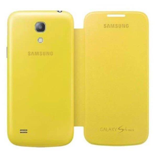 Samsung S4 Mini Flip Cover - Jaune - Livraison rapide partout au Canada!