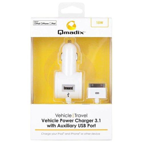 Qmadix Chargeur De Véhicule 3.1A - iPhone 4/4S