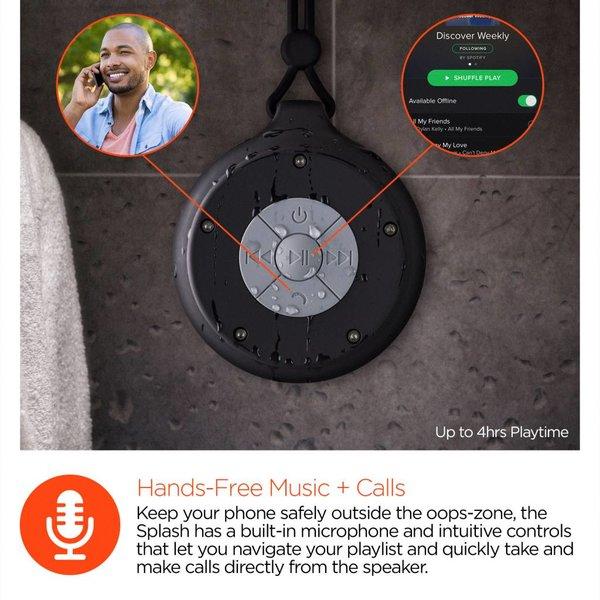 Haut-Parleur Bluetooth HyperGear Résistant à l'Eau - Noir - Livraison rapide partout au Canada!