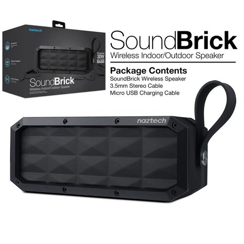 Naztech Naztech Sound Brick Wireless Speaker Black