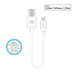 Naztech Naztech MFi Lightning Charge & Sync USB Cable 6in/15cm - White