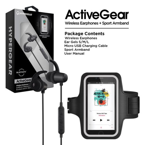 Hypergear HyperGear ActiveGear Wireless Earphones + Sport Armband Set