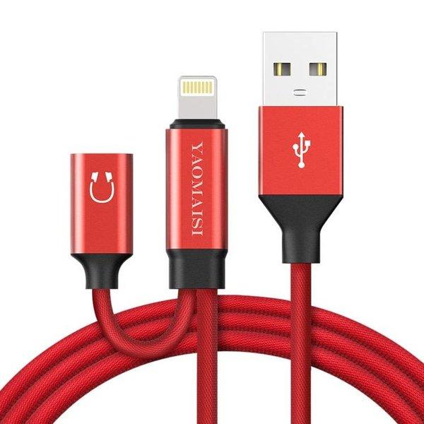 Cable Lightning avec Adaptateur pour ecouteurs Lightning