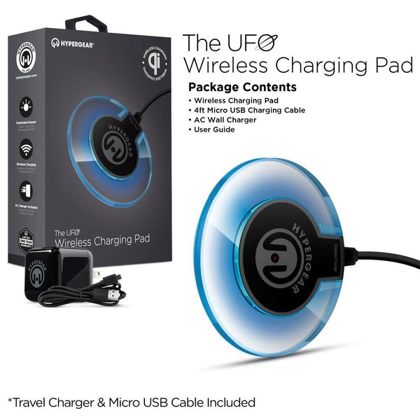 HyperGear - Chargeur induction UFO Noir / Clear