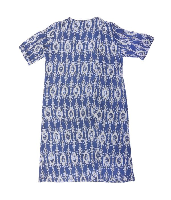 ACC Printed Dress with Lace Collar