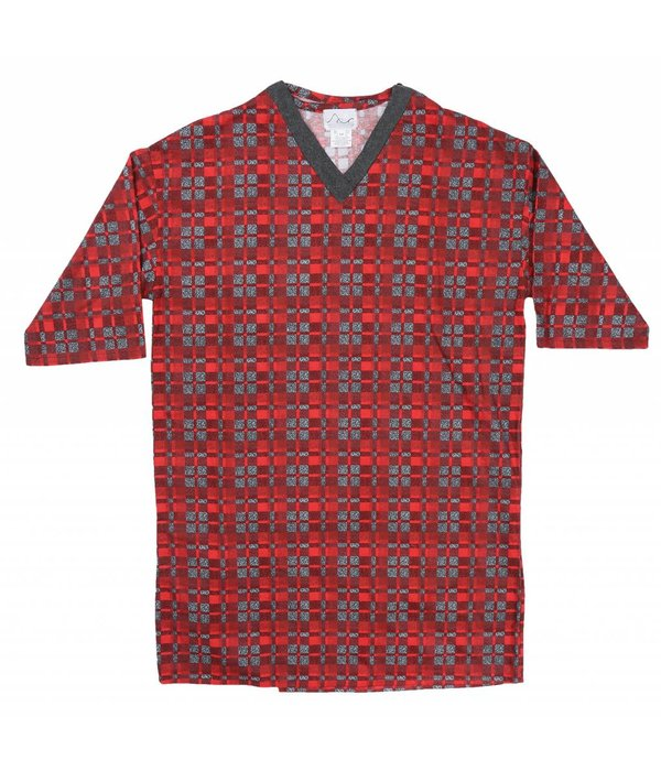 Mens Back Opening Flannel Nightshirt - Adaptive Comfort Clothing