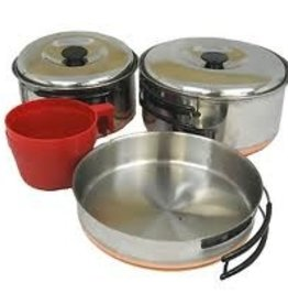Greenland Sales Chinook Ridgeline Stainless Steel Duo Cookset 7-PC