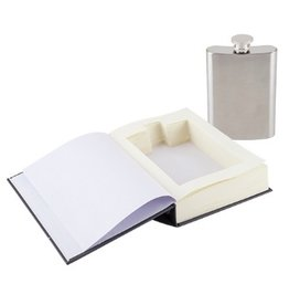 Indigo Fair Foster & Rye Survival Book Sneaky Flask