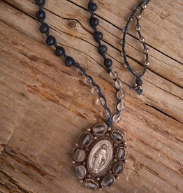 JONAS & MUSE Vintage Religious Medallion Necklace