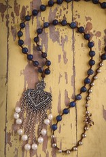 JONAS & MUSE Heart and Pearls Necklace