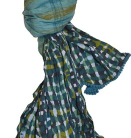 LITTLE JOURNEYS Invoqa Plaid Scarf
