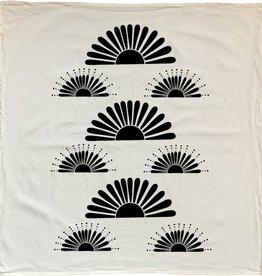 NATIVE BEAR Bright Suns Tea Towel