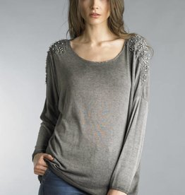 TEMPO PARIS Pearls with Lace Tee