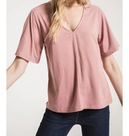Z SUPPLY SHOP The Suede Flutter Tee