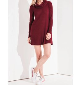 Z SUPPLY SHOP The Brushed Rib Cowl Dress