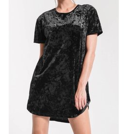 Z SUPPLY SHOP The Crushed Velour Tie Back Dress