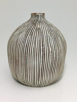 Brown Striped Tiny Weed Vase