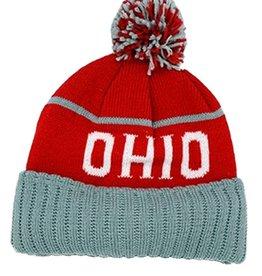 OHIO Pom Knit Beanie Hat